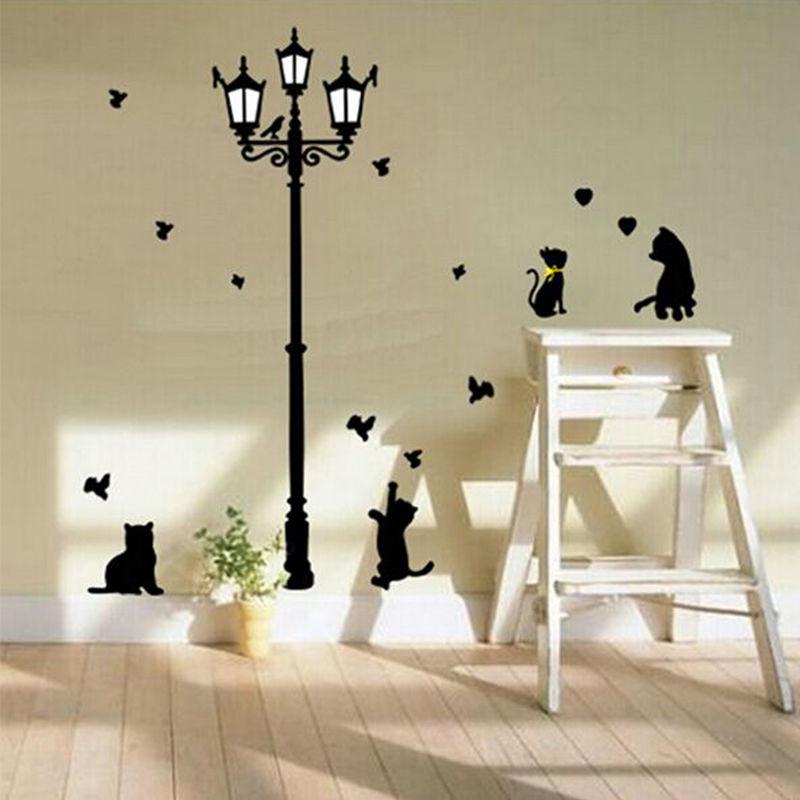 belleza encantadora de dibujos animados nios dormitorio sala de paredes pintadas decorativo pegatinas lindo del gato