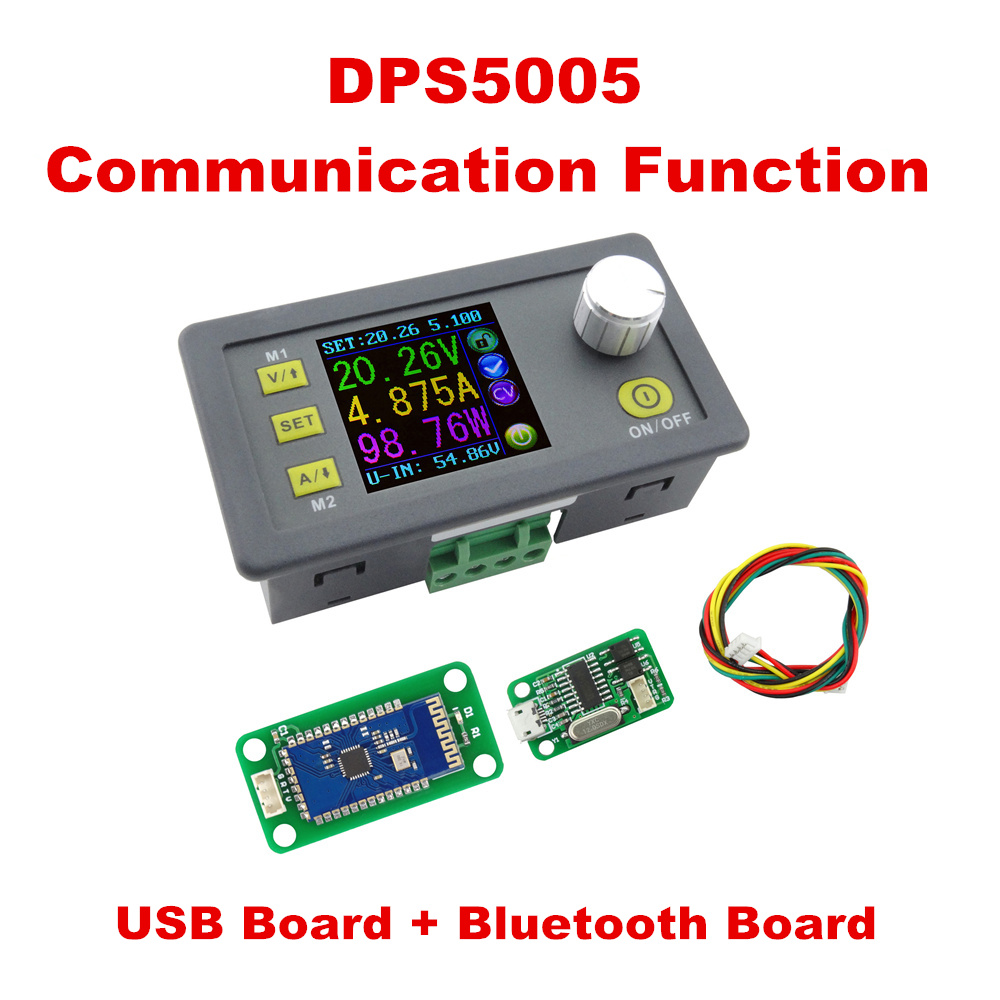 DPS5005 Communication Function Step-down Power Constant Voltage current Supply module buck converter LCD voltmeter 40% off dps5005 constant current step down programmable power supply module buck voltage converter color lcd display voltmeter 20% off