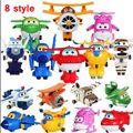 Caliente venta alas súper Mini aviones de transformación Robots figuras de acción 8 style alas súper deformación niños juguetes regalos