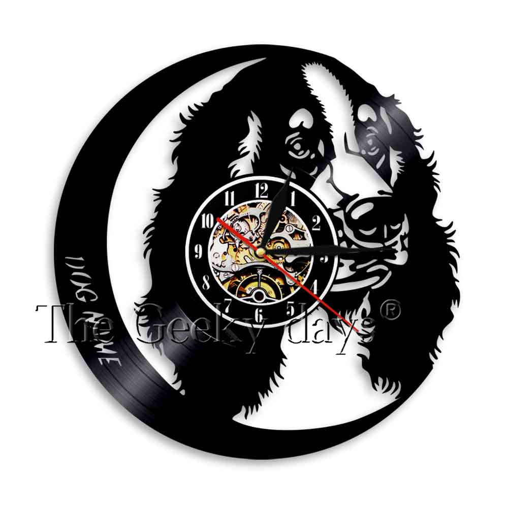 Golden Retriever Dog Silhouette Wall Clock