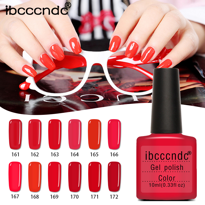 12pcs/lot UV Gel Nail Polish 10ml  Red Series Gel Varnishes Lacquer Need Nail Primer Base Top Coat Gelpolish with Gift Box 12pcs lot green series uv gel nail polish led lamp gel lacquer gel polish vernis semi permanent gel varnish nail primer base top