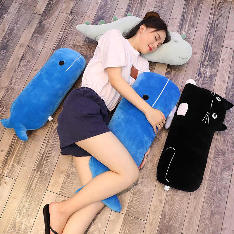 1 pc 60 CM Baleia Dos Desenhos Animados Gatos Dinossauro Brinquedos De Pelúcia De Alta Qualidade Stuffed Animal Macio Sofá de Volta Almofada Travesseiro Crianças presente de aniversário