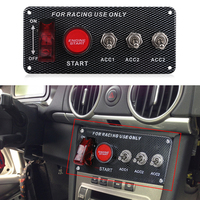 Car Auto Interruptores de Palanca 12 v Interruptor De Encendido Panel Engine Start Pulsador Carbon Fiber Car Led Interruptor de Palanca