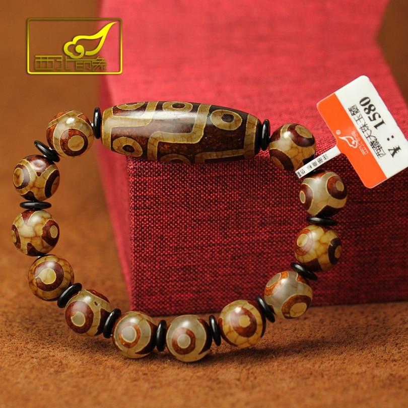 Tibetan Dzi Beads Bracelet Ethnic Style Great Quality Nine Eyes And Three Eyes Natural Stone Materials Free Shipping