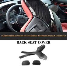 Углерода Волокно автомобиля внутренняя сиденье сзади отделка Чехлы для мангала для BMW F80 M3 F82 F83 M4 седан Кабриолет 2014-2017
