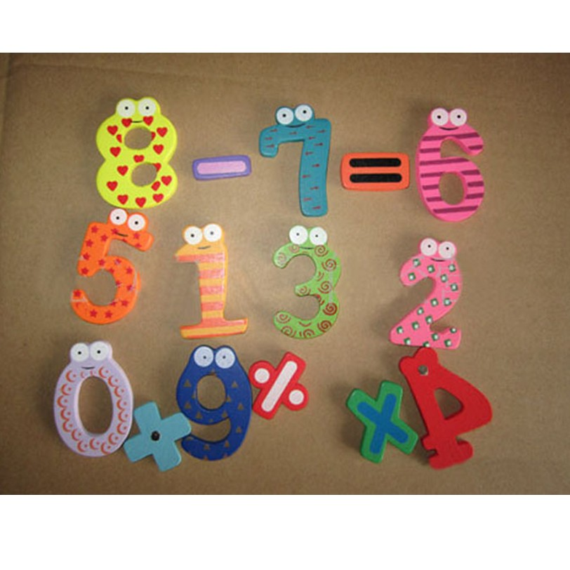 Chamsgend Магнитные деревянные числа математика набор цифровой Детские развивающие игруш ...