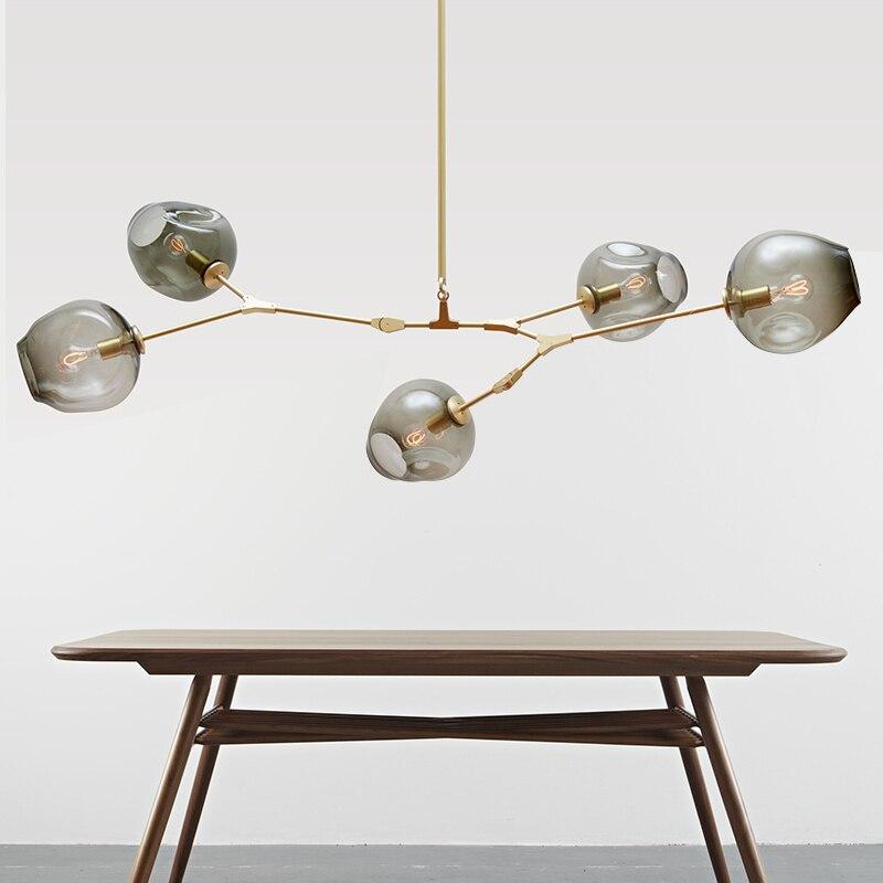 Moderne nordique Moléculaire Haricot Magique Branche Pendentif Lumières Italien LED Suspension pour Salle à manger Cuisine Avize Lustre Éclairage