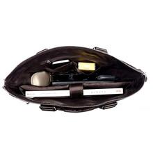 Men Casual Briefcase Business Shoulder Bag Leather Messenger Bags Computer Laptop Handbag Bag Men's Travel Bags