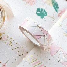 Decorative-Tapes Foil-Paper Scrapbooking Japanese Pink Golden Honeycomb for Photo-Album