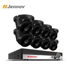 Jennov 1080 P 2MP 8CH HD NVR комплект видеонаблюдения ip-камера видеонаблюдения набор камера безопасности для дома P2P купольная ночного видения водостойкая