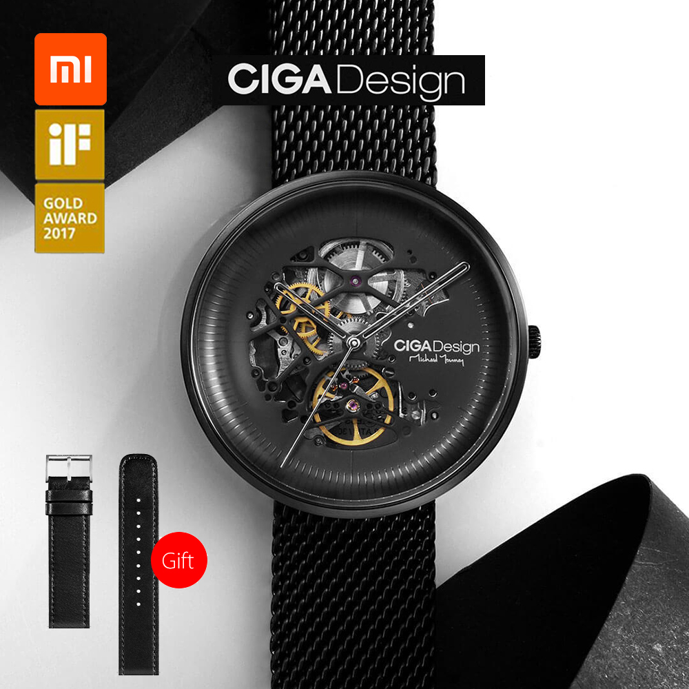 Original Xiaomi Mijia CIGA Design MY Series Mechanical Wristwatches Fashion Luxury Watch Men Women iF Design Gold Award Designer-in Smart Remote Control from Consumer Electronics