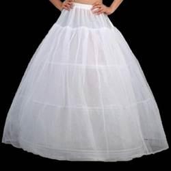 Белая ткань 3 один-хооп свадебные свадьба петтикот кринолайн нижняя 2016