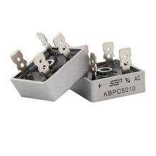 2 шт. KBPC5010 5010 50A 1000 В диодный мостовой выпрямитель фаз выпрямитель диод kбпц 5010 power electronica componentes
