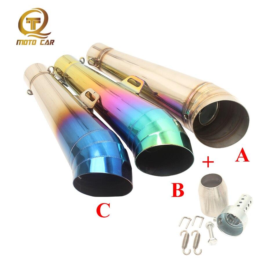 FOR DB Killer Middle Tube Escape Gp Muffler 51MM AKrapovic Exhaust Kawasaki Z900 Z750 Z800 Z250