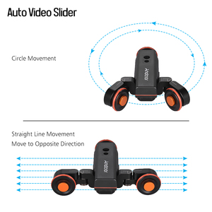 Image 4 - Andoer Mini deslizador de pista L4 PRO, Control remoto inalámbrico, cámara motorizada, vídeo deslizante para cámara DSLR Canon, Nikon, Sony