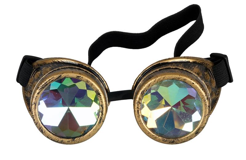 267722912cdab2 Nieuwe Mode Vintage Stijl Steampunk Goggles Lassen Punk Gothic Kleurrijke  Bril Gothic Cosplay Mannen Vrouwen Koele Bril Brillen