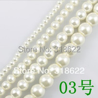Wholesale 1000pcs Set 8Colors 6mm Glass Pearl Loose Spacer Beads DIY Jewelry Findings Free Shipping