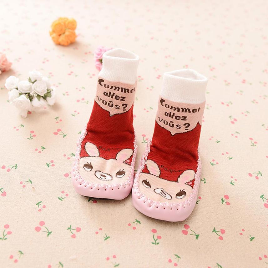 BMF TELOTUNY Baby Girls Boys Cartoon Kids Toddler Baby Cotton Anti-slip Sock Shoes Boots Slipper Socks Apr16 Drop Ship