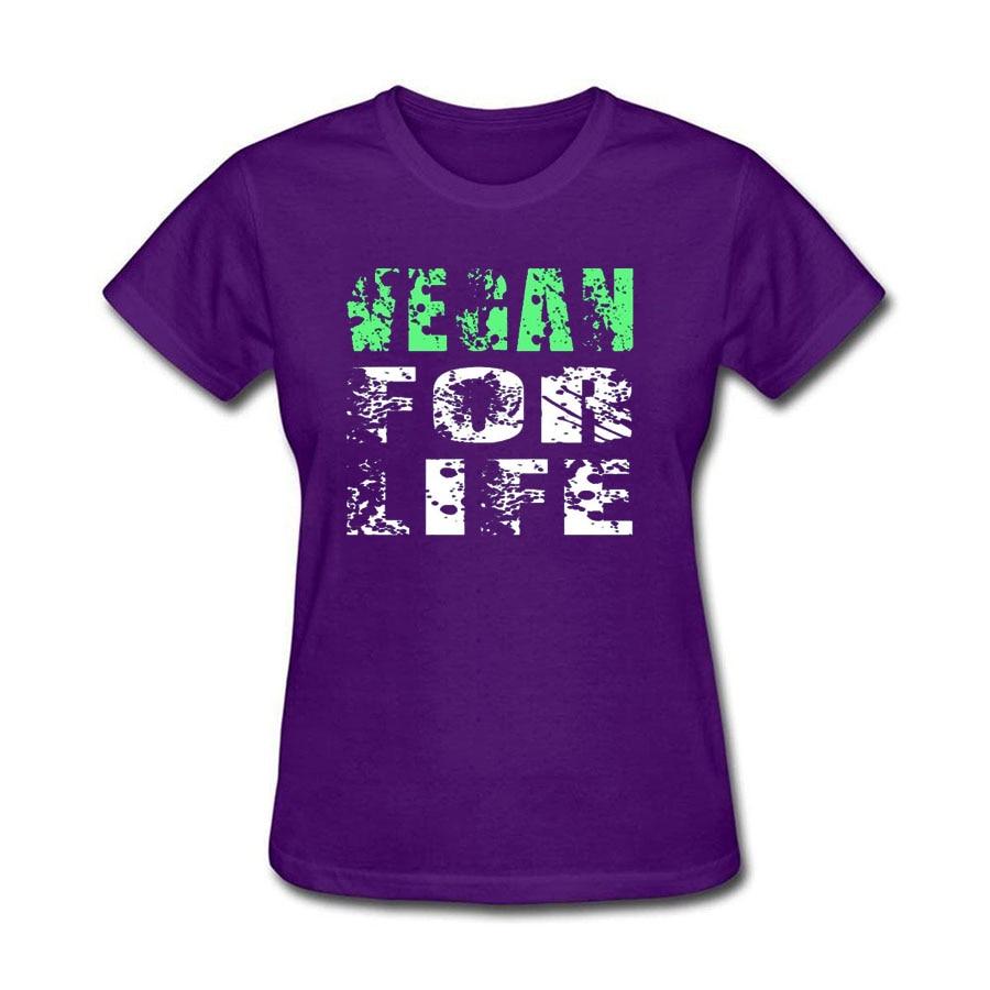 Vegan For Life Print Tee shirt Femme 18 Summer Short Sleeve Loose T-shirt Women Casual Large Size Cotton tshirt women tops 8