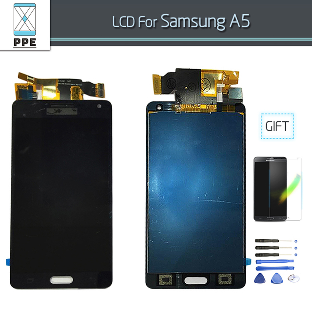 LCD Complete Replacement For Samsung Galaxy A5 2015 A500F A500M A5000 LCD Screen Display Touch Digitizer Assembly Tools Film