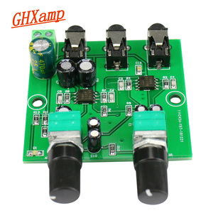 Image 1 - GHXAMP Two Way Stereo Audio Signal Mixer Board For One Way amplification Output Headset Amplifier audio DIY (2 Input 1 Output)