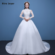 HIRE LNYER Najowpjg Long Sleeve Ball Gown Wedding Dress