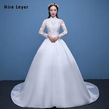 HIRE LNYER Najowpjg Long Sleeve Ball Gown Wedding Dress