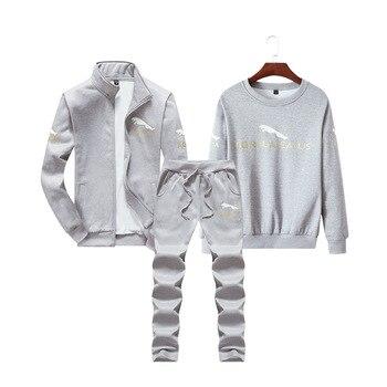 Chaquetas De Invierno | 3 Uds Hombres Ropa Deportiva Chándal Invierno Polar Cálido Traje Sudadera + Chaqueta + Pantalón Correr Jogger Ocio Fitness Oufit Set Sport Suit