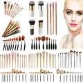 Pinceles de Maquillaje Pro Set Powder Blush Fundación Sombra de Ojos Delineador de Labios de Oro Kit de Cepillo Cosmético Herramientas de Belleza Mufti elección