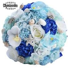 Kyunovia Seashell Букеты Свадебные шелковые свадебные цветы гортензии сад букеты синий Пляжные букет starfish свадебный букет fe45