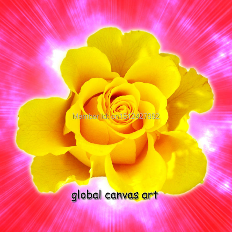 3 panel Modern Home Decoration abstract wall art picture golden rose ...