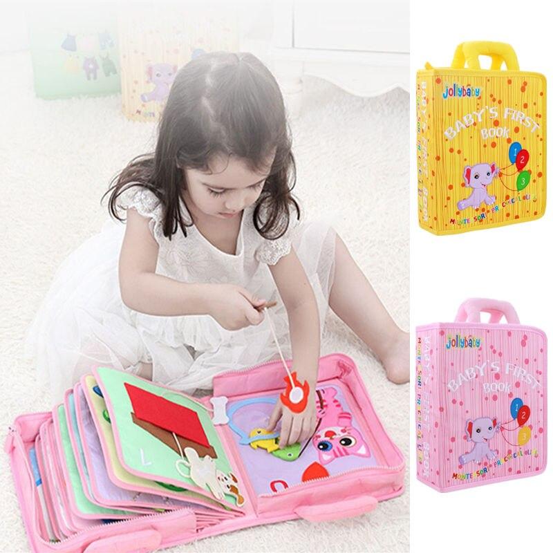 Brinquedos do bebê 0-12 meses Aprendendo Brinquedos Infantis Livros de Pano para Crianças de Inteligência Precoce montessori Brinquedo Educativo Para As Crianças