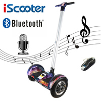 Hoverboard 10 Inch Two Wheels Self Balancing Scooter Samsung Battery Bluetooth Key With Handle Standing Balance