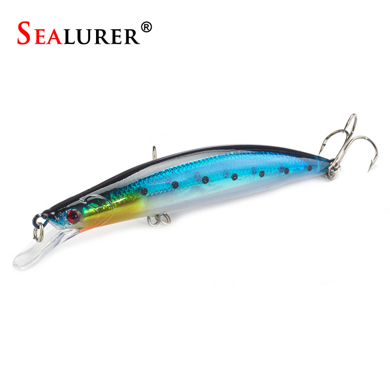 Floating Minnow Lure Wobbler Fly Fishing Japan Hard Bait 11CM 12.7G Laser Carp Crankbait Tackle 1Pcs laser fishing minnow lure crankbait tackle 9cm 7 2g hard artificial bait type treble hook carp lure