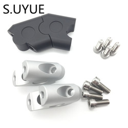 S.UYUE Anodized 2 Inch Pivoting Motorcycle Handlebar Riser For 7/8