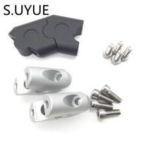 S UYUE Anodized 2 Inch Pivoting Motorcycle Handlebar Riser For 7 8 22mm And 1 1