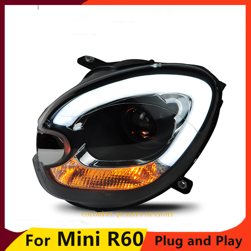 KOWELL Car Styling Car Styling For BMW mini R60 headlights 2007 2013 For R60 head lamp