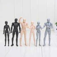 15cm BODY KUN/BODY CHAN body-chan body-kun gris/Orange/noir couleur Ver. Jouet modèle à collectionner en PVC