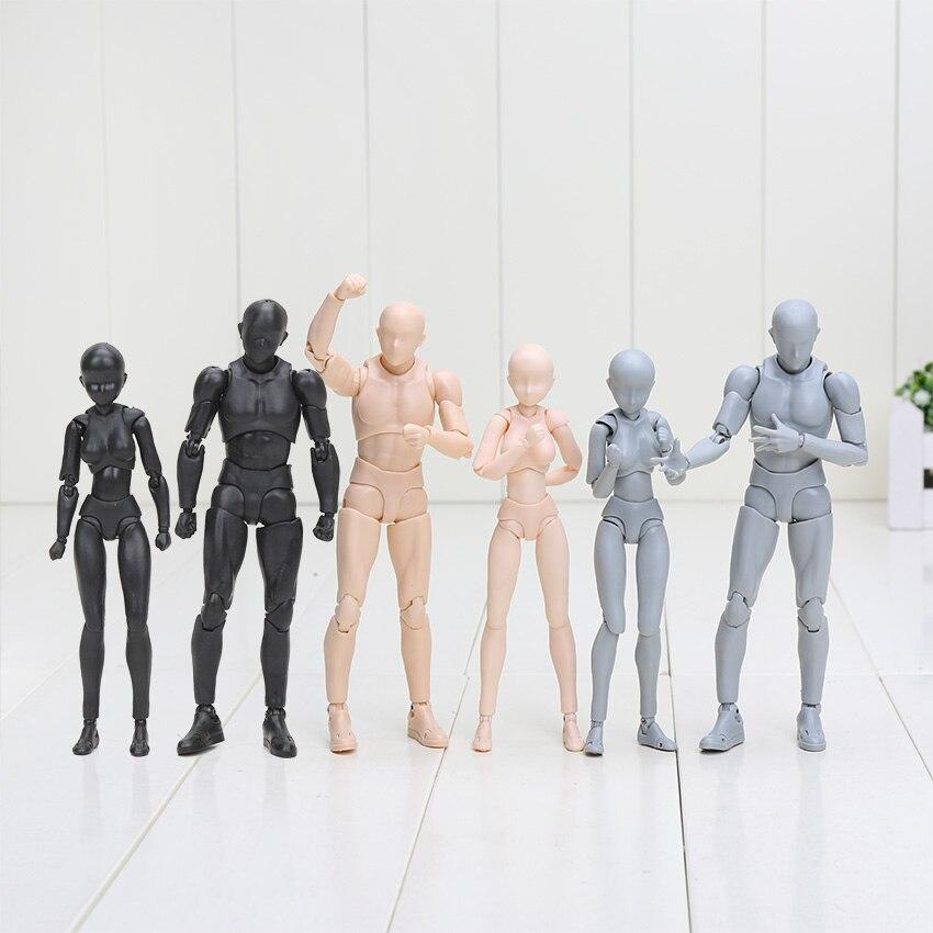 15cm corpo kun/corpo chan corpo-corpo chan-kun cinza/laranja/preto cor ver. Pvc figura de ação collectible modelo brinquedo