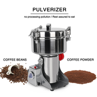 Commercial Electric Grinder Machine Stainless Steel Flour Mill Pulverizer for Cereal Spice Grain Bean Pepper