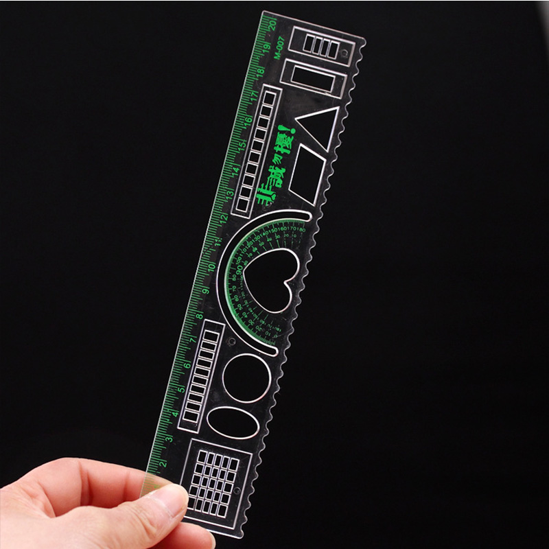 20 Cm Heart-shaped Creative Multi-functional Ruler, Multi-color Test Ruler For Students. Students Do Painting Stationery