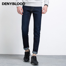 Denyblood Jeans 2017 Spring Fashion Mens Jeans Pants Red Selvage Denim High Quality Slim Straight Original Blue Trousers 728721