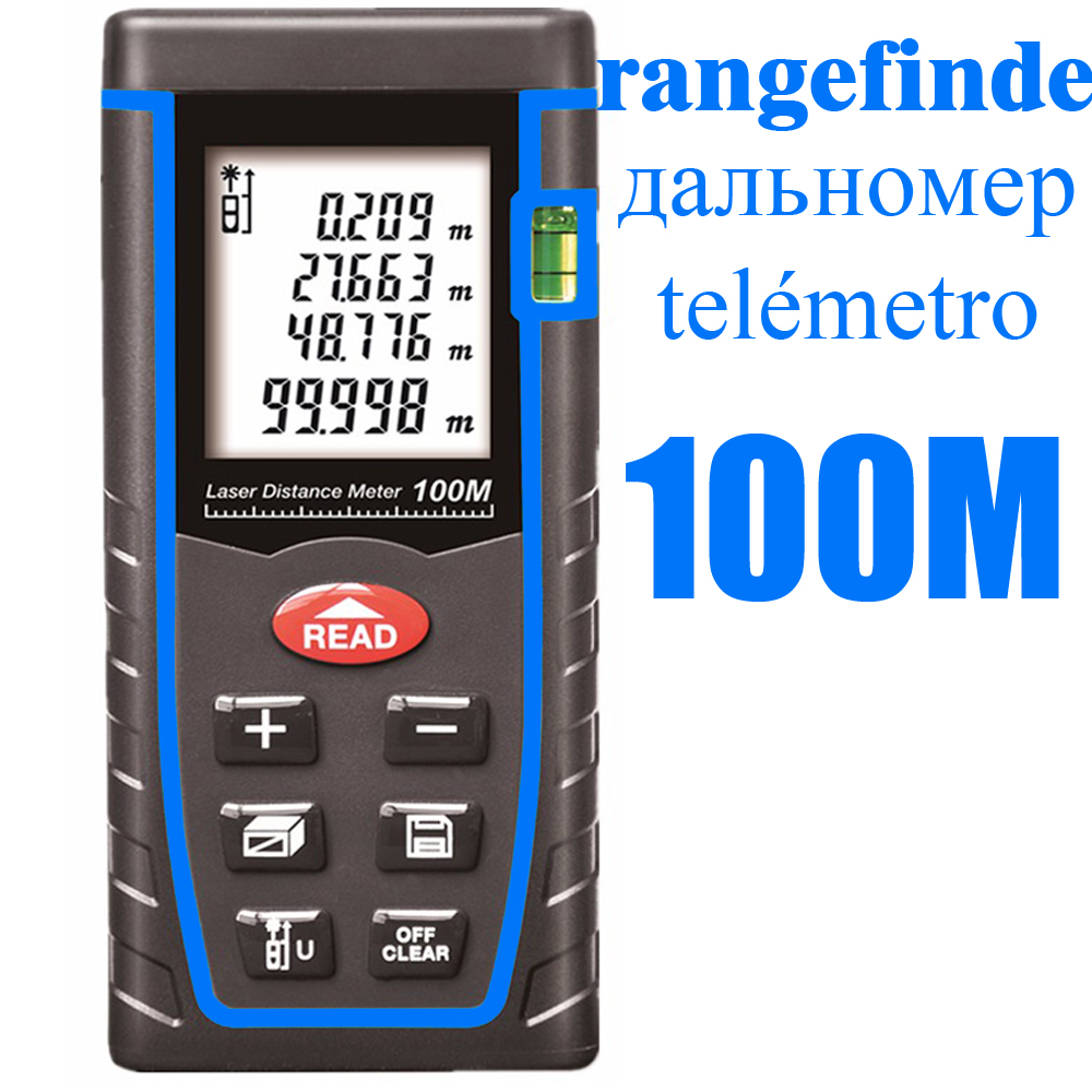 Laser Distance Meter Laser Rangefinder 40M 60M 80M 100M Range Finder Digital Laser Tape Measure Area/volume Angel Tool 80m handheld laser rangefinders digital laser distance meter infrared laser range finder tape ruler measure area volume tool