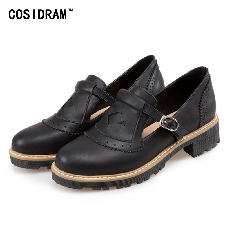 British Style Women Flats Buckle PU Leather Oxford Shoes For Women Oxfords New 2017 Spring Autumn Flat Shoes Female SNE-835 new 2015 autumn flat t strap oxford shoes for women vintage british style round toe low thick heels women oxfords shoes woman