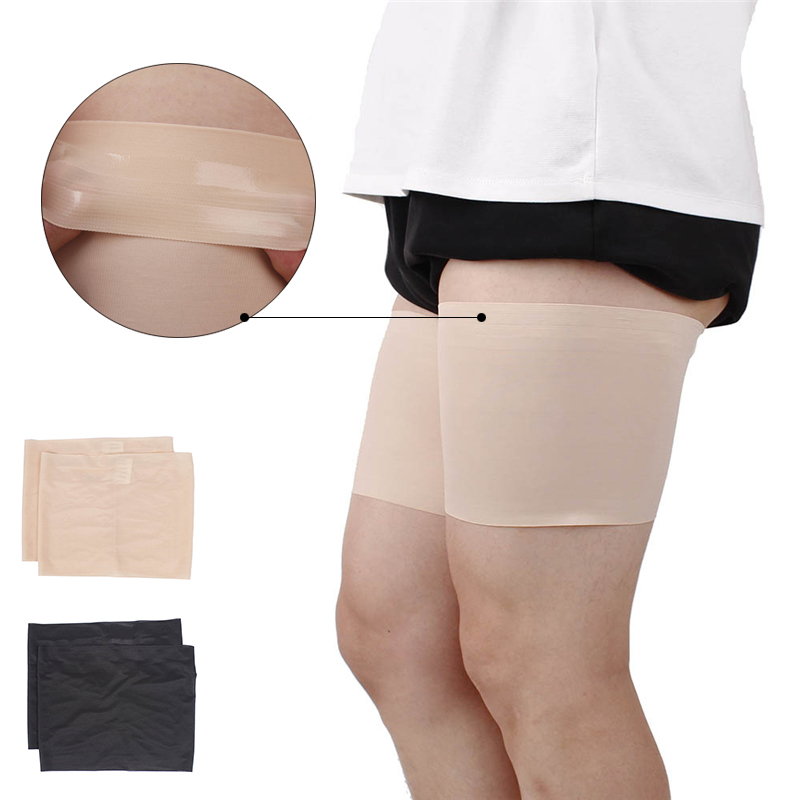 Leg Warmer Slimmer Band Women High Elastic Silica Gel Anti-friction Protection Thigh Bands Leg Warmers Women Been Warmers Sock