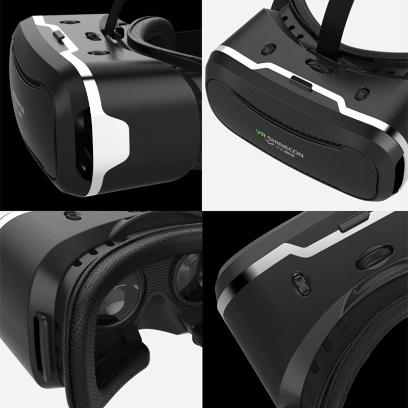 VR Shinecon 2.0 Google Cardboard VR BOX 2.0 Virtual Reality goggles VR 3D Glasses Immersive for 4.5-6.0 inch smartphones 15