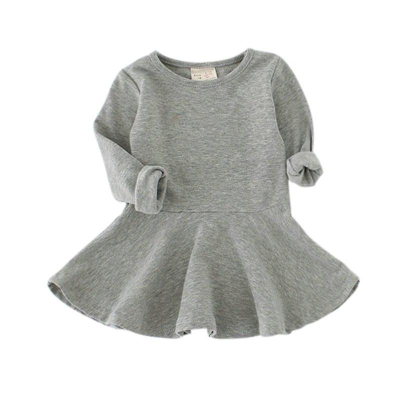 Fashion Spring Autumn Baby Kids Girls font b Dresses b font Soft Cotton Blends Long Sleeve