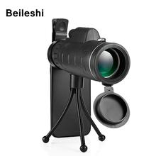 High Quality Zoom Great Handheld Telescope Monocular 40x60 Powerful night vision Military HD Professional Hunting telescope