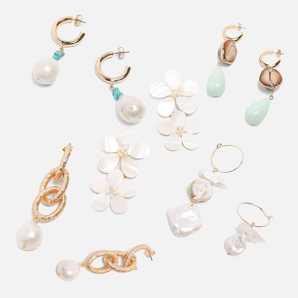 Dvacaman ZA 2019 Earrings for Women Vintage Simulated Pearl Drop Earrings Summer Flower Hanging Earrings Party Female Bijoux(China)