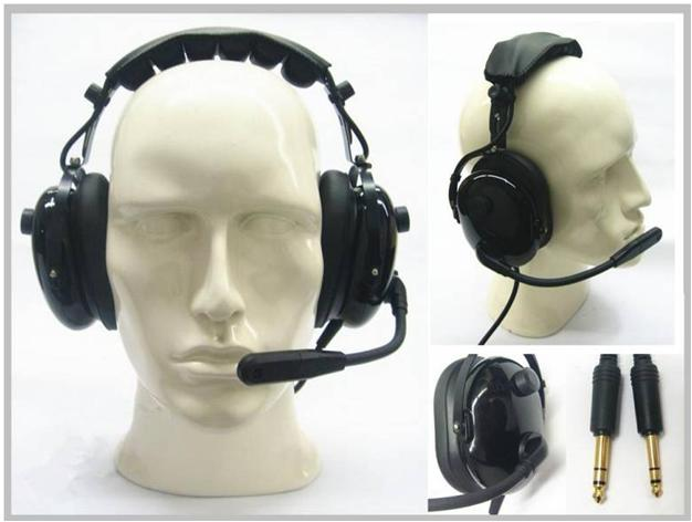 High performance aviation noise canceling headphones racing guide walkie talkie anti noise modified head protection earmuffs